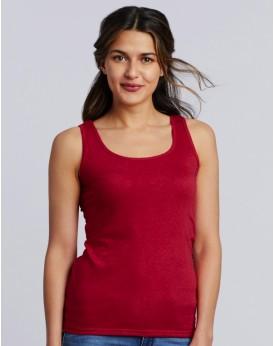 Débardeur Top Femme Jersey semi-peigné - Tee-shirt Personnalisé avec marquage broderie, flocage ou impression. Grossiste vete...