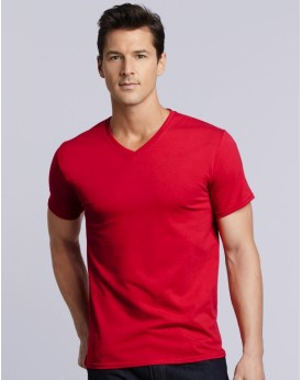 T-Shirt Col-V Adulte Premium Coton - Tee shirt Personnalisé avec marquage broderie, flocage ou impression. Grossiste vetement...