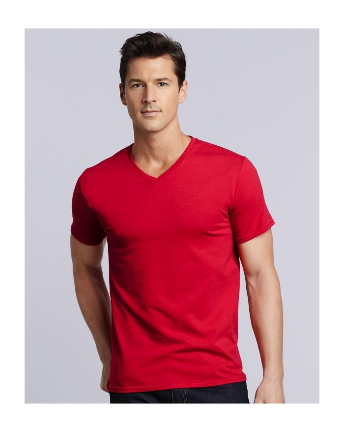 T-Shirt Col-V Adulte Premium Coton - Tee-shirt Personnalisé avec marquage broderie, flocage ou impression. Grossiste vetement...