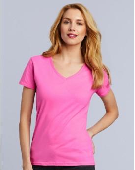 Premium Coton Femme Col-V T-Shirt Tee-shirts