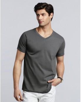 T-Shirt Jersey semi-peigné Col-V - Tee-shirt Personnalisé avec marquage broderie, flocage ou impression. Grossiste vetements ...