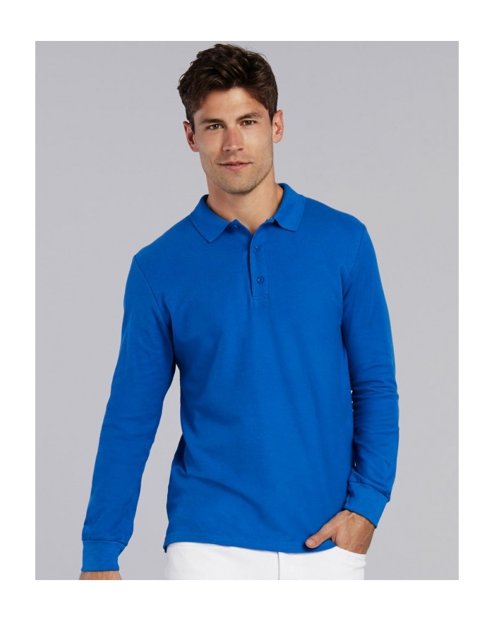 Polo Premium Coton Adulte Double Piqué LS - Polo Personnalisé avec marquage broderie, flocage ou impression. Grossiste veteme...