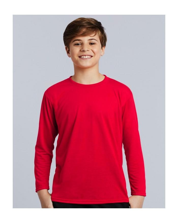 T-Shirt respirant Performance Enfant LS - Vêtements de Sport Personnalisés avec marquage broderie, flocage ou impression. Gro...