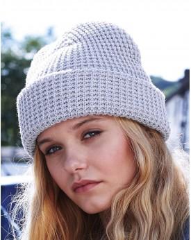 Bonnet classique en maille gaufrée - Casquette Personnalisée avec marquage broderie, flocage ou impression. Grossiste vetemen...