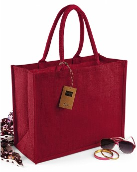 Classic Jute Sac Shopping - Bagagerie Personnalisée avec marquage broderie, flocage ou impression. Grossiste vetements vierge...
