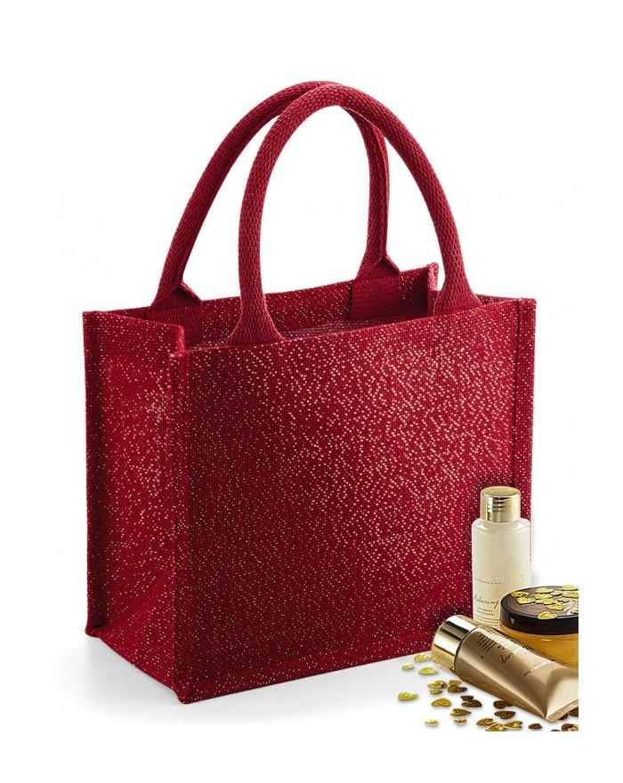 Shimmer Jute Mini Cadeau Sac - Bagagerie Personnalisée avec marquage broderie, flocage ou impression. Grossiste vetements vie...