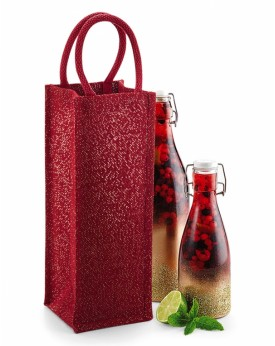 Shimmer Jute Bouteille Sac Bagagerie