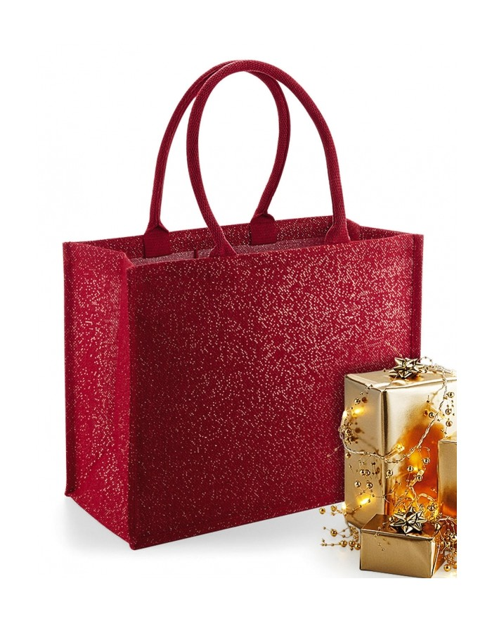 Shimmer Jute Sac Shopping - Bagagerie Personnalisée avec marquage broderie, flocage ou impression. Grossiste vetements vierge...