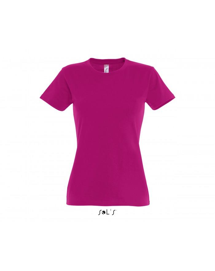 T-shirt Femme IMPERIAL - Tee shirt Personnalisé avec marquage broderie, flocage ou impression. Grossiste vetements vierge à p...