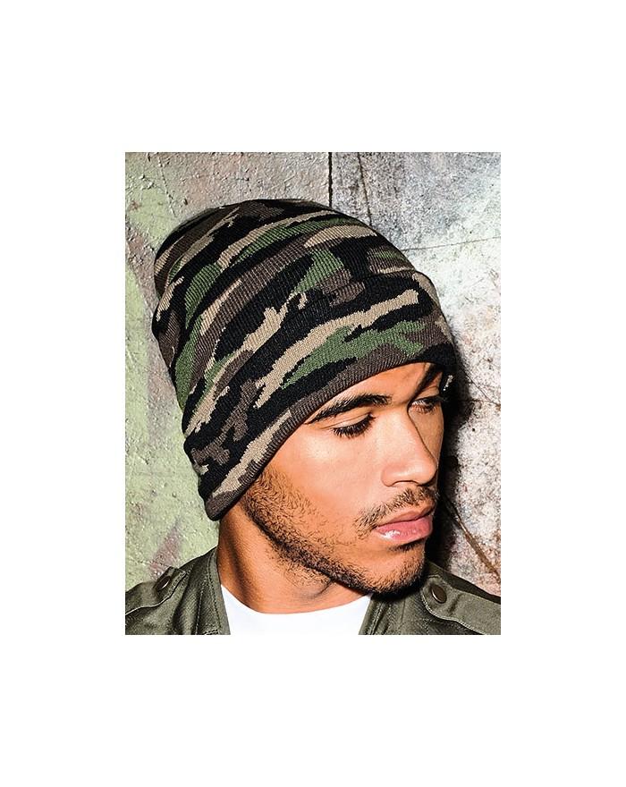Bonnet à revers camouflage - Casquette Personnalisée avec marquage broderie, flocage ou impression