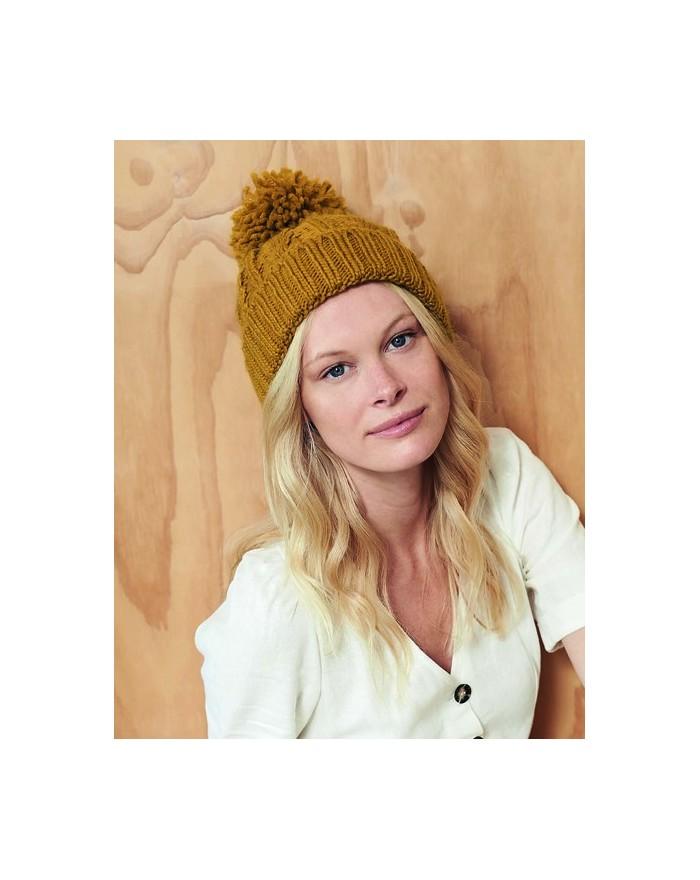 Bonnet en laine mélangée torsadée - Casquette Personnalisée avec marquage broderie, flocage ou impression. Grossiste vetement...