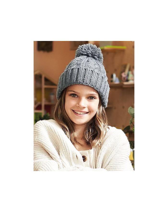 Infant/Junior Cable Tricot Melange Bonnet Casquettes & Accessoires