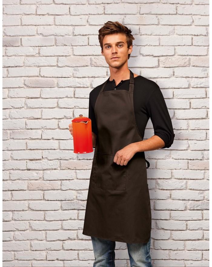"""Tablier à bavette """"Colours"""" avec poche - Vêtement de travail Personnalisé avec marquage broderie, flocage ou impression"""