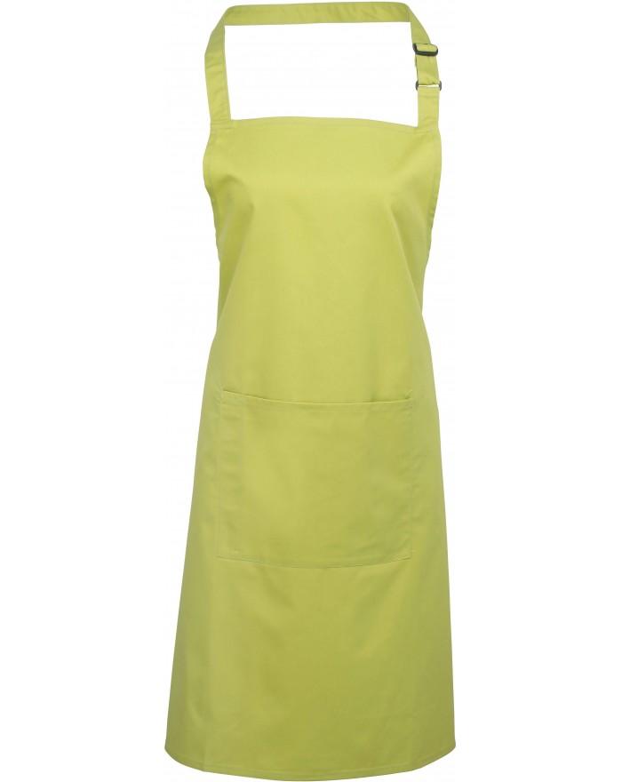 """Tablier à bavette """"Colours"""" avec poche PZ154 - Vêtement de travail Personnalisé avec marquage broderie, flocage ou impression..."""