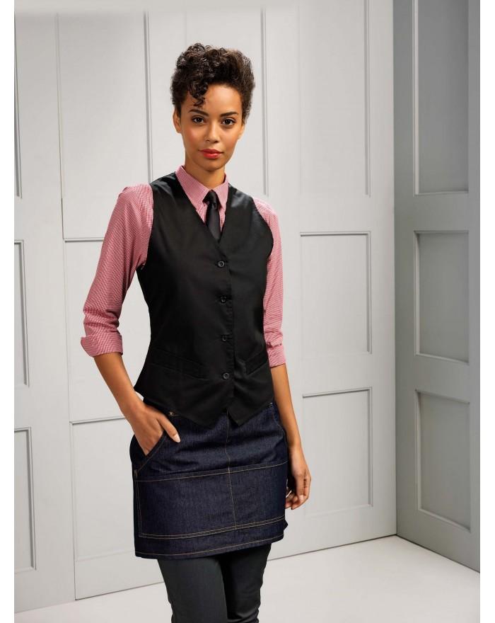 GILET DE SERVEUSE - Vêtement de travail Personnalisé avec marquage broderie, flocage ou impression