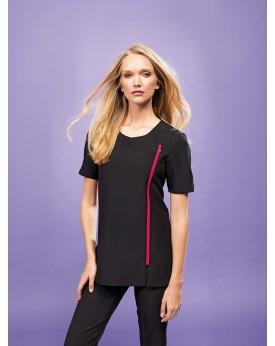 """Tunique zippée """"Camellia"""" - Vêtement de travail Personnalisé avec marquage broderie, flocage ou impression"""
