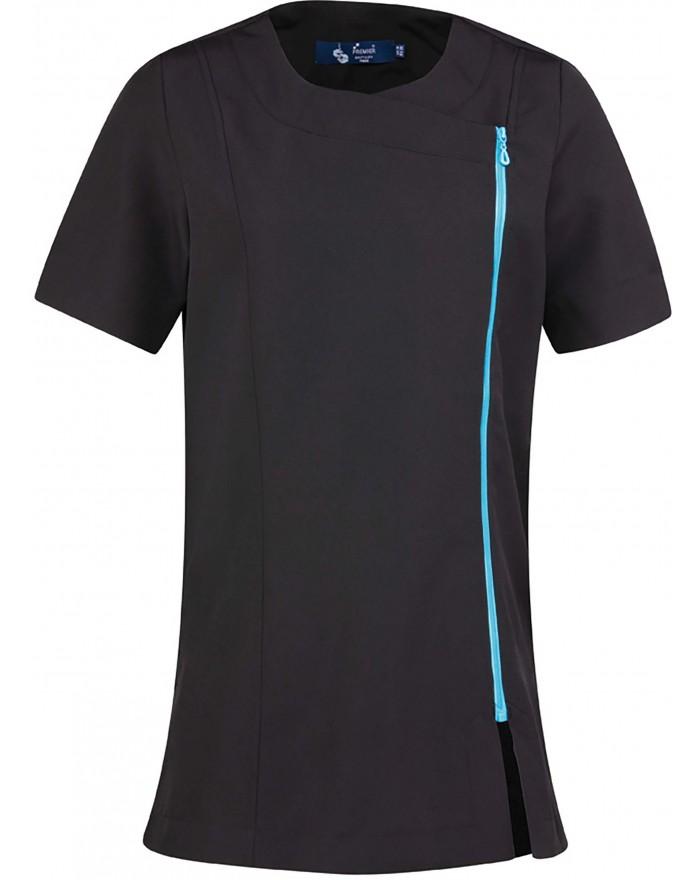 """Tunique zippée """"Camellia"""" - Vêtement de travail Personnalisé avec marquage broderie, flocage ou impression. Grossiste vetemen..."""
